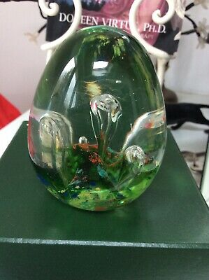 Old Dump Glass Paperweight Very Heavy