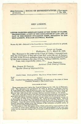 Cmte. on Claims: Ship Liberty (French Spoliation), William Caldwell, Master