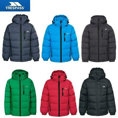 Kids Trespass Tuff Padded Coat - Boys Quilted School Jacket