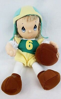 Precious Moments 2004 Blonde Plush Boy Football Player Helmet #6 Stuffed Toy 10""