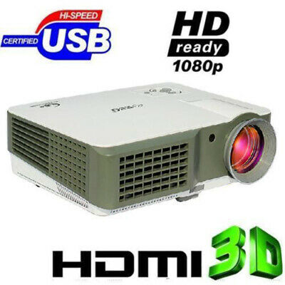 Proyector 4000 Lumens HDMI FULL HD 1080P Home Cinema Projector TV SD VGA USB ES