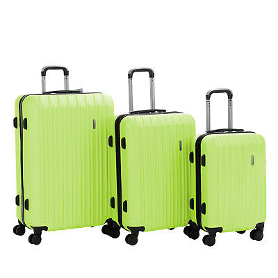 """3PCS Luggage Set Travel Bag Trolley Spinner Carry On Suitcase 20"""" 24"""" 28"""" Green"""