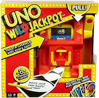 MATTEL DNG26 UNO Jackpot Wild Card Game Brand New Free Shipping Lowest Price