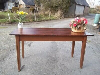French Antique 19Th Century Provincial Farmhouse Kitchen Table With Drawer