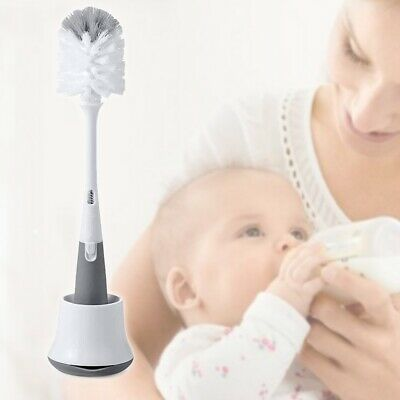 Milk Bottle Brush Cleaner Nipple Stand Cleaning Scrubbing Baby Feeding Equipment