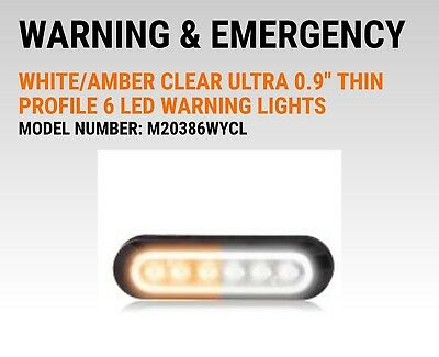 MAXXIMA M20386WYCL Flasher White/Amber. Clear lens LED