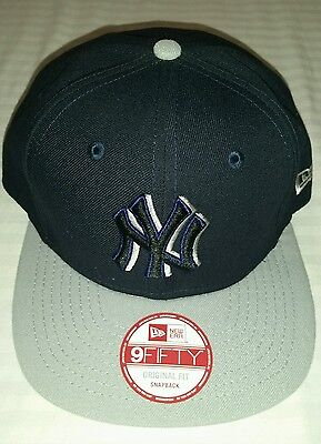 89dc6c756e9 New Era 9 Fifty Mlb New York Yankees Navy Grey Snap Back Adjustable New  Mens Hat