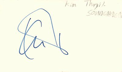 Kim Thayil Lead Guitarist Soundgarden Rock Band Music Signed Index Card JSA COA