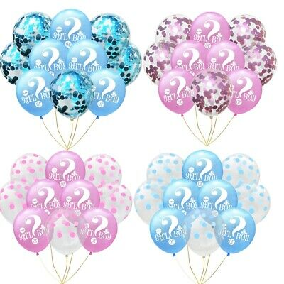 Gender Reveal Unisex Girl Or Boy Party Decorations Latex Confetti Balloons