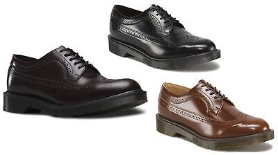 e541812bd7dc2 Dr Doc Martens 3989 Made In England MIE Boanil Brush Brogue Luxury Leather  Shoes