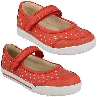 Girls Clarks Emery Halo Infant Hook & Loop Polka Dots Cruisers Casual Shoes Size