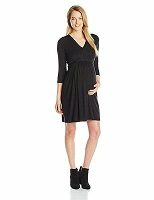 04919515f3 NWT THREE SEASONS Maternity Black   White Long Slv Soft Dress  44 Xl ...