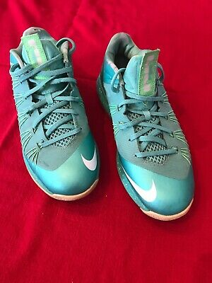 new arrival 4b0a1 12da2 Nike Air Max LeBron 10 X Low Easter Crystal Mint Green 579765-300 Men s Size