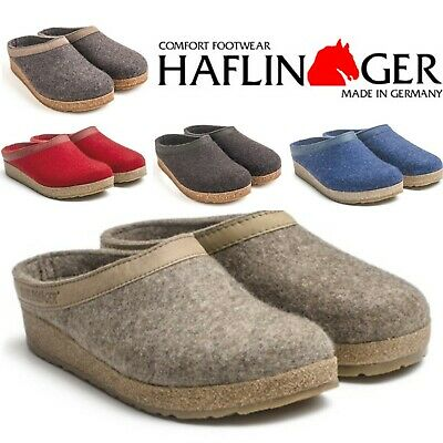 Haflinger Grizzly Torben Wool Felt Clogs Mules - All Colors And Sizes