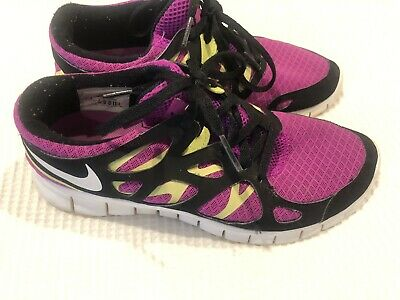 pretty nice b653e 85c90 NIKE Free Run 2--black and purple size 8- womens atheletic shoes