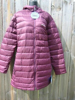 Columbia Womens Crescent Cliff Jacket sizes XS-S-M-L-XL Down Fill Hooded Black