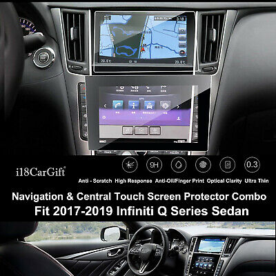 i18CarGift Tempered Glass Touch Screen Protector for 2017-2019 Infiniti Q50/QX50