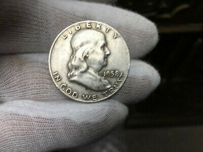1958-D Franklin Half Dollar 90% SILVER VERY NICE COIN SEE PICTURE (LOT D)