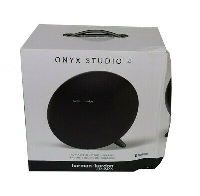 NEW Harman Kardon Onyx Studio 4 HKOS4BLKAM Portable Bluetooth Speaker Black