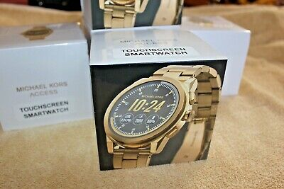 b82f25574915 Michael Kors Access Grayson Gold Tone Touchscreen Smartwatch MKT5026 SEALED