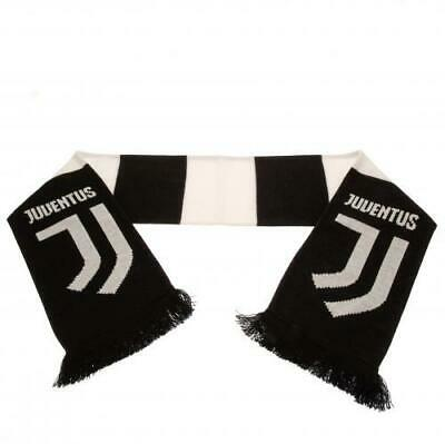 Juventus FC Official Crested Jacquard Bar Knit Scarf Present Gift