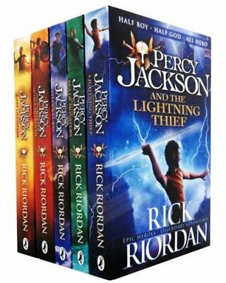 5 Book Set Percy Jackson Ultimate Collection by Rick Riordan