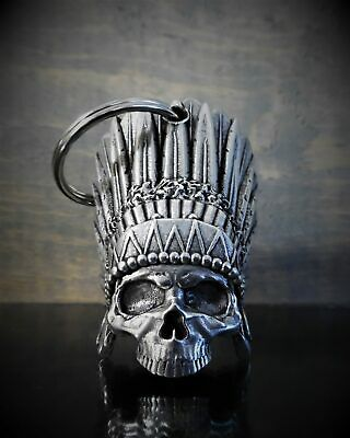 f6a6bb56d4d 3D INDIAN SKULL BELL Ride Bell guard to protect against motorcycle gremlins