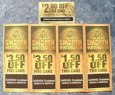COPENHAGEN COUPONS TWO (2) $3 50 OFF FIVE CANS Expires 3/11/19