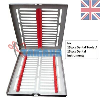 Dental Sterilization Cassette Tray Rack of 15 Instruments Surgical Tool ZamahaUK