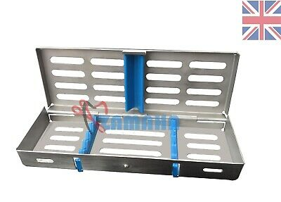 Dental Sterilization Cassette Tray Rack of 5 Instruments Surgical Tool Zamaha-UK