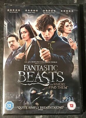 Fantastic Beasts And Where To Find Them Dvd 2016 Jk Rowling New & Sealed Free Pp