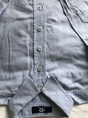 Boys Trotters Smart Blue Brushed Cotton Shirt Age 5 Hy Duck And Dodge