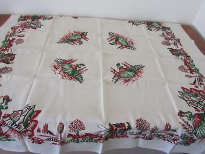 Vintage UNUSED Crinoline Lady Linen TABLECLOTH