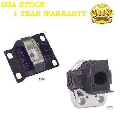 2 PCS FRONT RIGHT MOTOR & TRANS MOUNT FIT 2005-2007 Ford Focus 2.0L