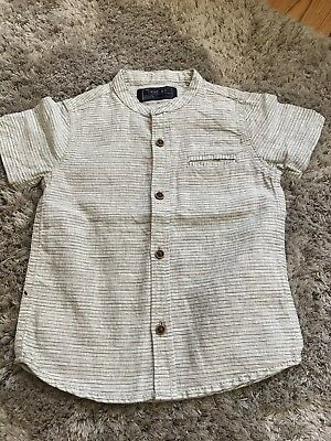 W4. Next Oatmeal Shirt Boys Age Baby 12-18m