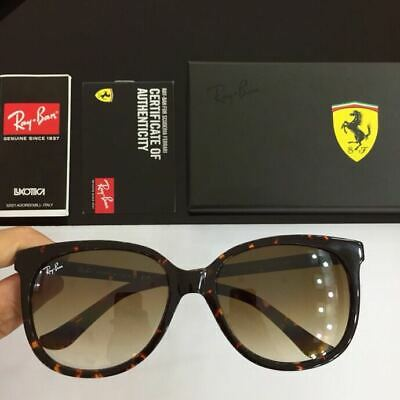 b4c4e7d243 NEW RAYBAN CATS 1000 Sunglasses RB4126 820 A5 57 Tortoise Brown ...