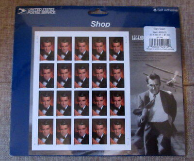 2002 Scott #3692 Legends of Hollywood-Cary Grant 37¢ Stamps MNH Sealed Pane