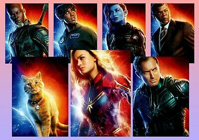 Captain Marvel: Goose, Carol Danvers Nick Fury A5 A4 A3 Texless Character Poster