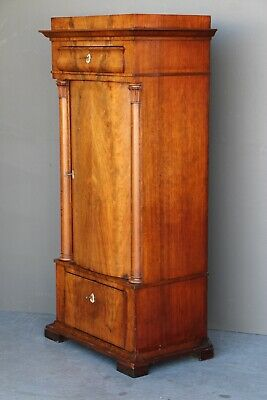 Antique Empire cabinet Biedermeier bookcase Regency armoire 1825 Scandinavian