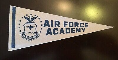 "US Air Force Academy VINTAGE MINI FELT FLAG BANNER PENNANT 9""x 4"""