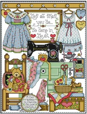 Tailor Shop. 14CT counted cross stitch kit. Craft brand new