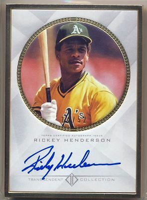 RICKEY HENDERSON 2016 Topps Transcendent GOLD FRAMED AUTO ON-CARD 14/52 A's HOF