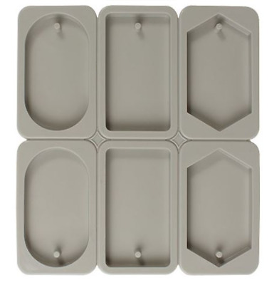 Mixed three tablet six-mould (hexagon / rectangular / ellipse) wax mold