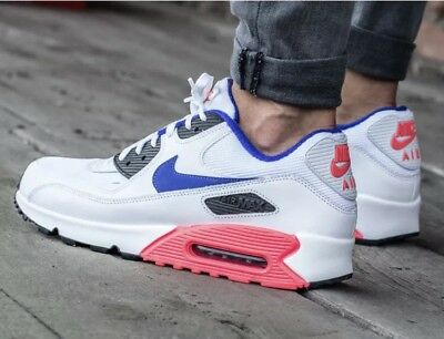 sale retailer 355de 4ada5 NIKE AIR MAX 90 Essential Size UK 16 537384-136 Ultramarine Solar Red No Box