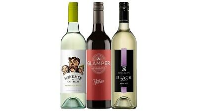 AU Best Seller Mixed Red & White Wine Pack 5-Star Winery 3x750mL FREE SHIPPING