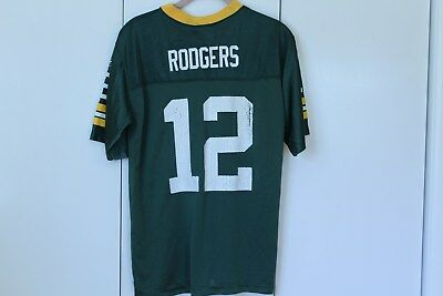 53663341c3c Aaron Rodgers #12 Green Bay Packers NFL Reebok Jersey Youth Boys LG L 14-