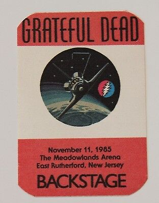 Grateful Dead Backstage Pass 11-11-85 The Meadowlands New Jersey