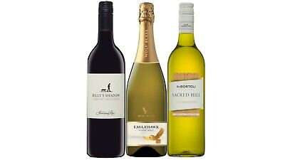 Mixed Brut, Cabernet Sauv, Chardonnay Wine Pack 5-Star Winery 3x750mL FREE SHIP