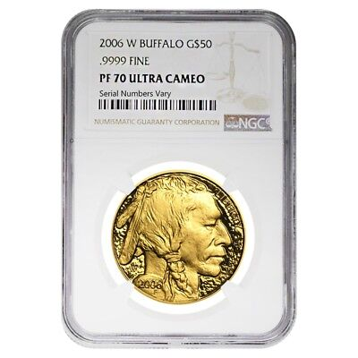 2006 W 1 oz $50 Proof Gold American Buffalo NGC PF 70 UCAM
