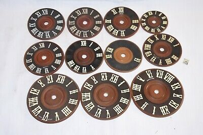 Mixed Lot 11 Vintage Germany Wood Cuckoo Clock dial face for parts Restore AS IS